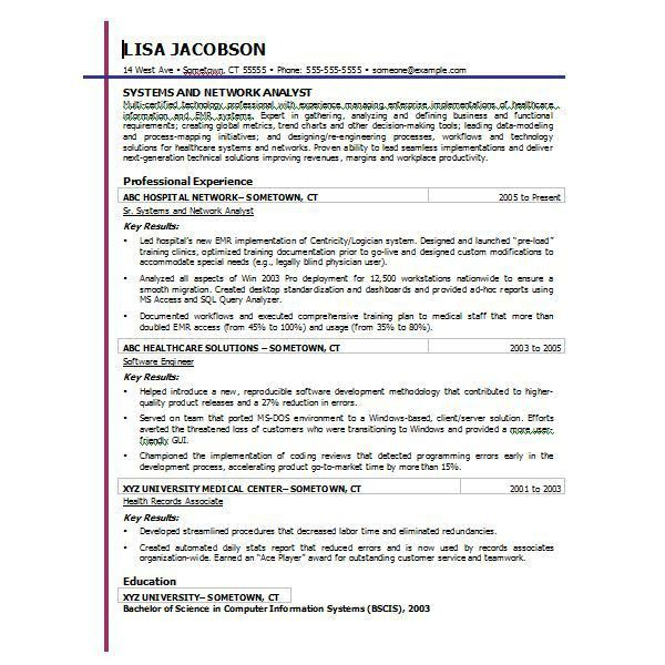 Resume Templates For Word 2010 - Resume Example