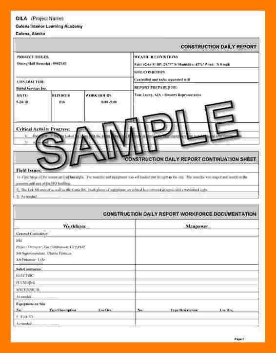 5+ construction report template | teller resume