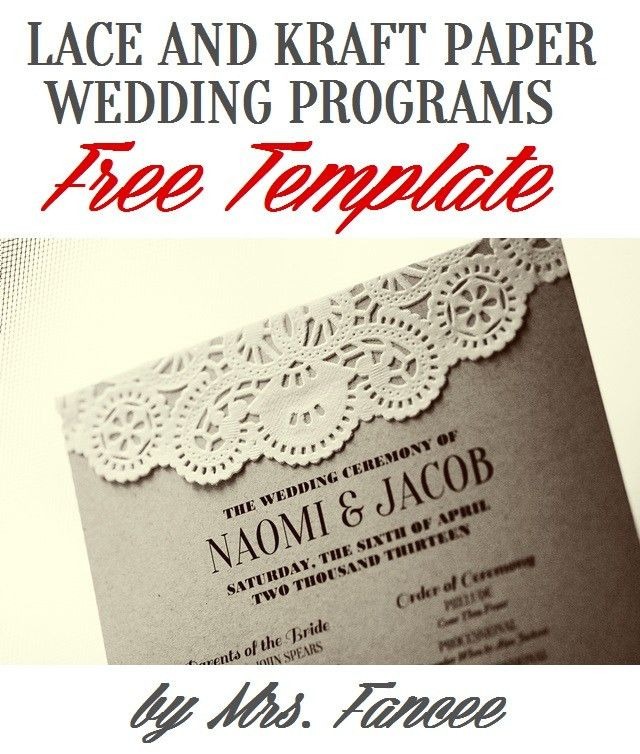Wedding Program Template - Mrs. Fancee