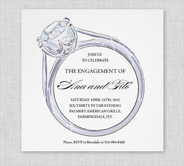 Engagement Party Invitation - 9+ Design, Template, Sample, Example ...