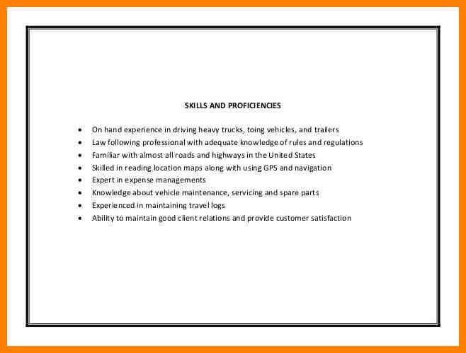 Truck Drivers Resume - formats.csat.co