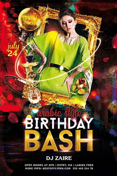 Download the Birthday Bash Free Flyer Template for Photoshop