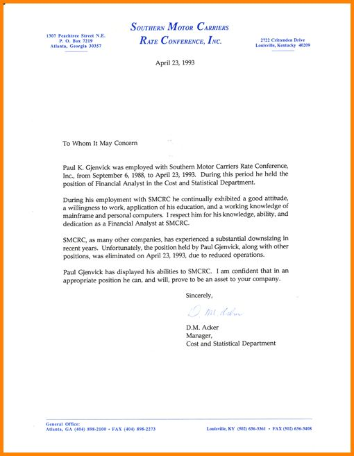 8+ recommendation letter for employment | memo templates