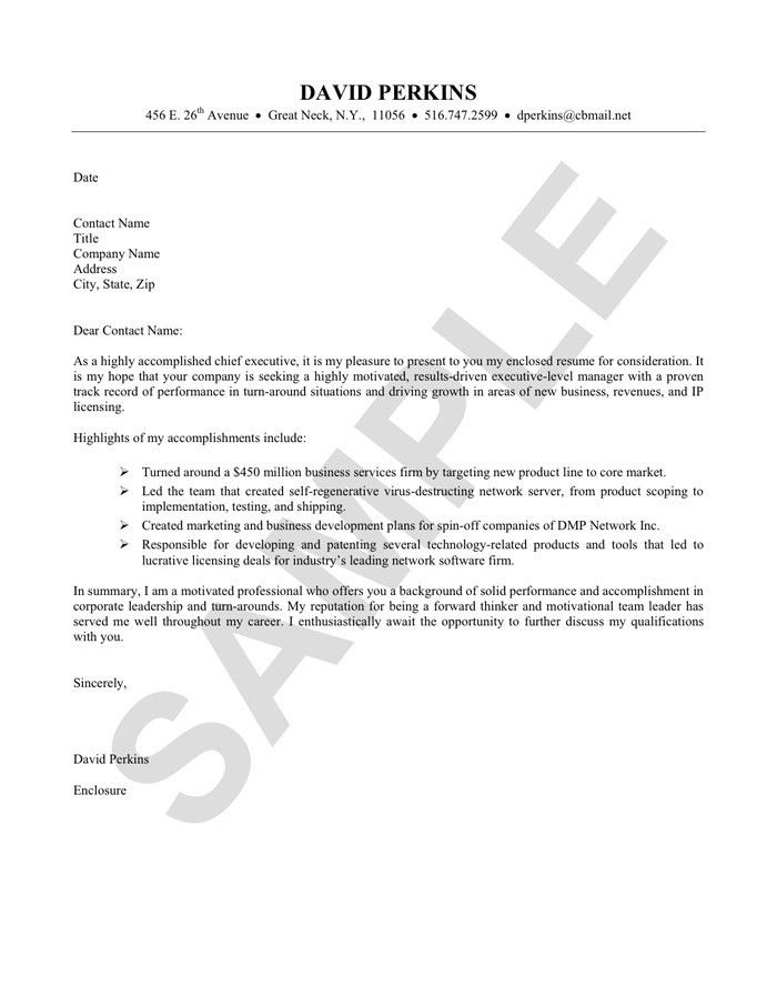 Cover Letter Examples For Resumes. Sample Resume Cover - Free ...