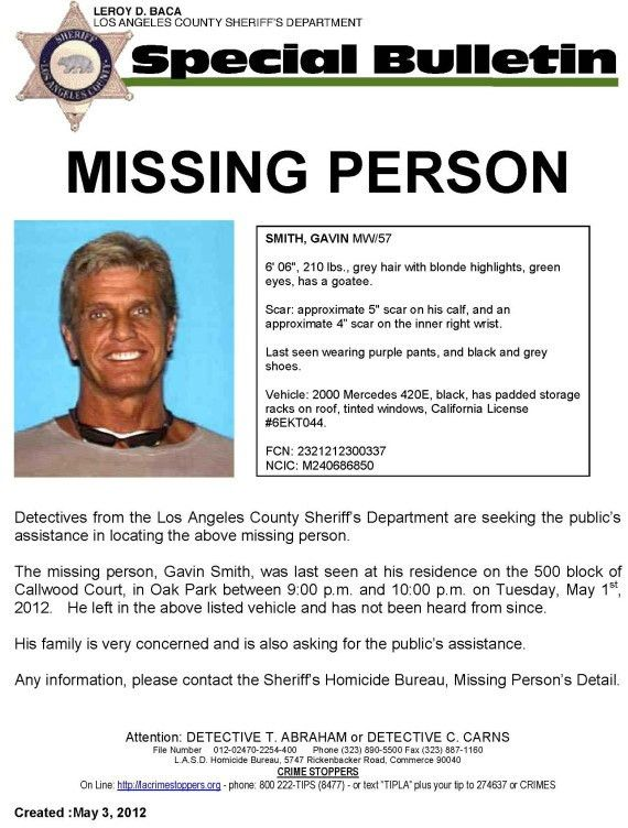 Gavin Smith Missing: 20th Century Fox Executive Disappears In Los ...