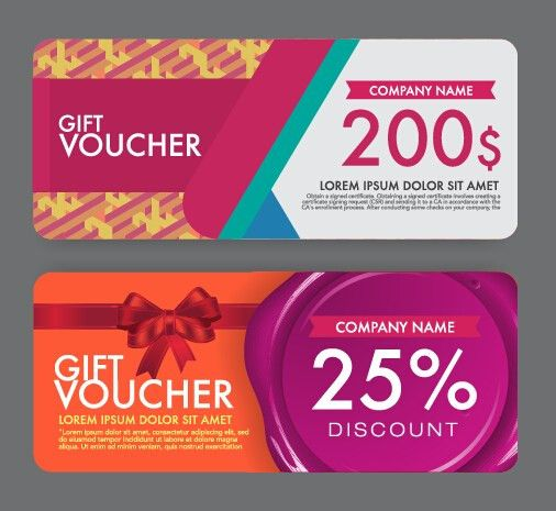 Gift Voucher Modern Design Template 01   Vector Card Free Download  Design Gift Vouchers Free