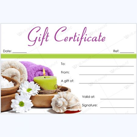 Spa Gift Certificate Templates - 100+ Spa and Saloon Designs