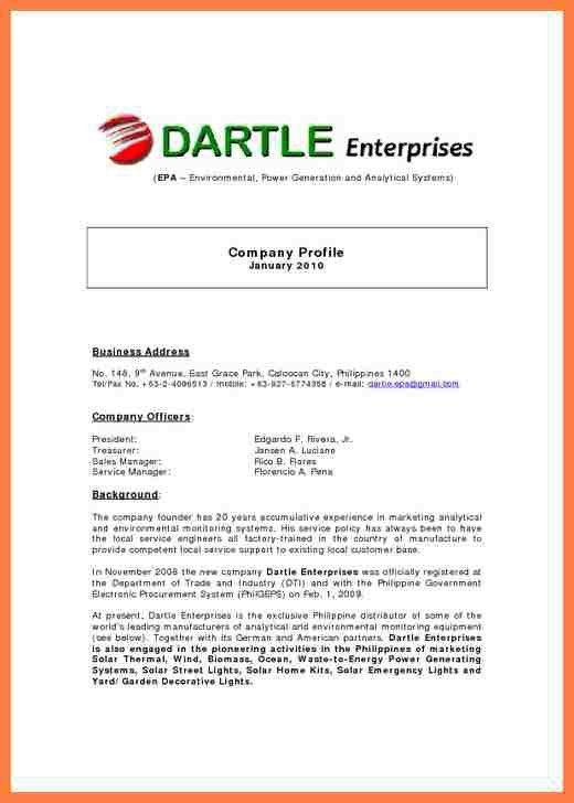 8+ sample of company profile letter | Company Letterhead