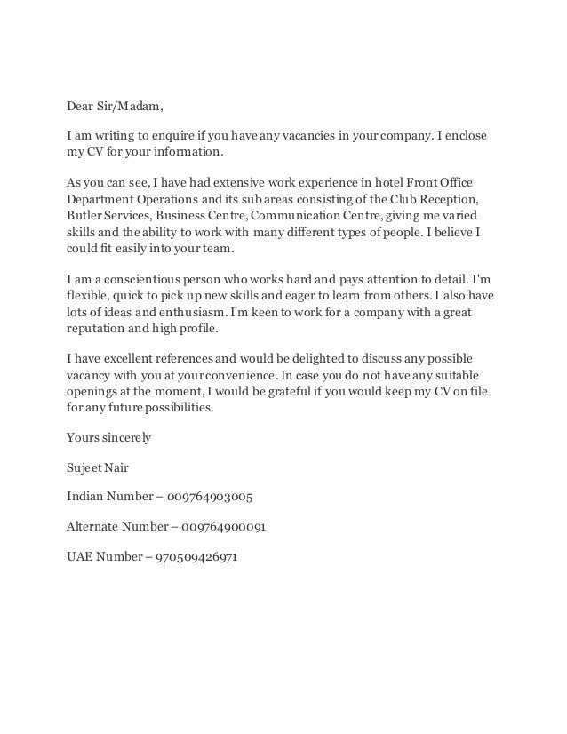 Sujeet Cover Letter