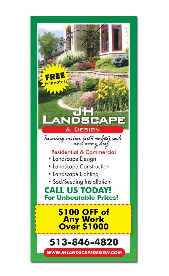 Landscaping Door Hanger Samples - 3000DOORHANGERS.COM