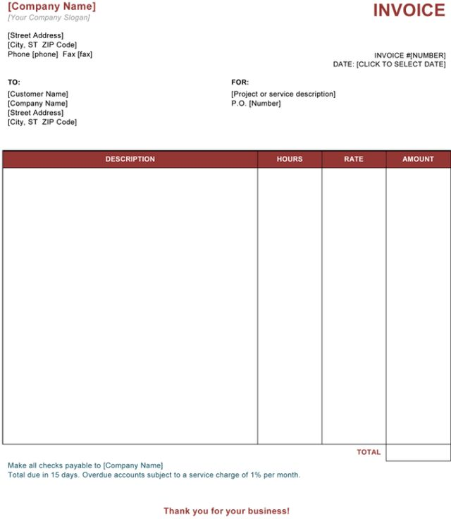 Download Basic Simple Invoice Template | rabitah.net