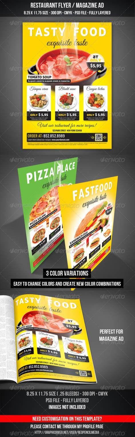 45+ Best Restaurant and Food Flyer Templates | Web Development ...