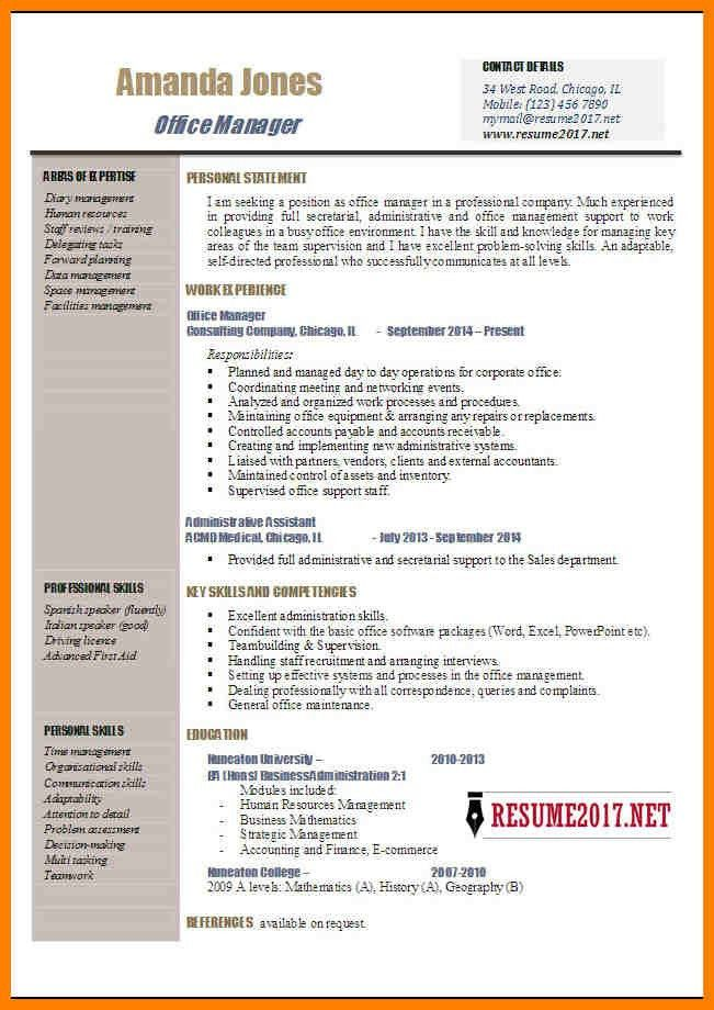 assistant manager resume sample. office manager resume 4. office ...