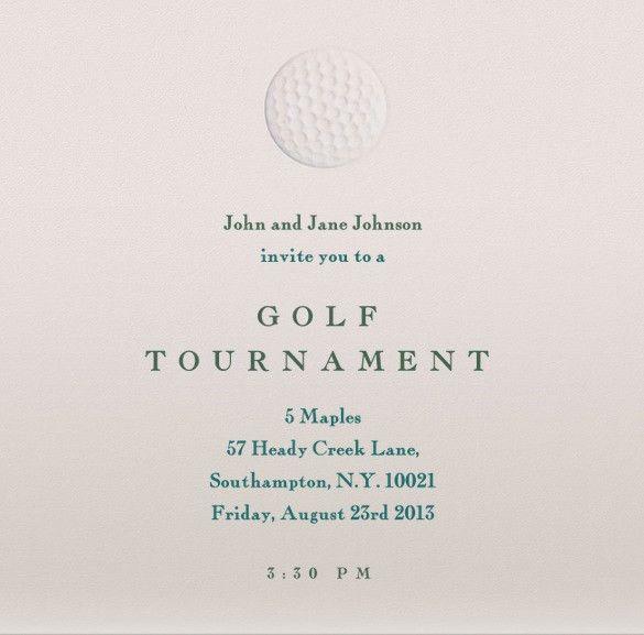 25+ Fabulous Golf Invitation Templates & Designs | Free & Premium ...