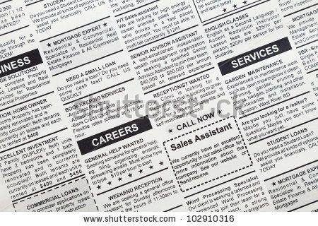 Popular Free Job ad in newspaper Photos | Avopix.com
