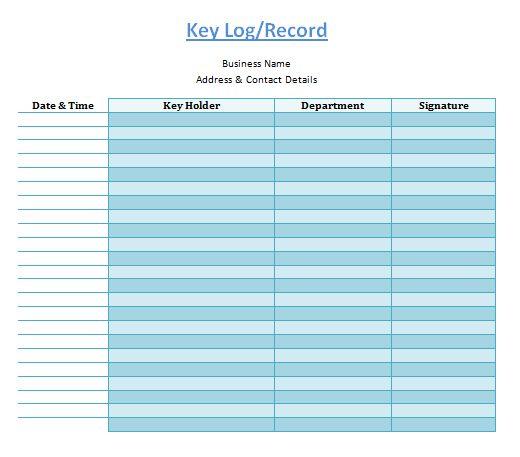 Key Log Template | Log Templates