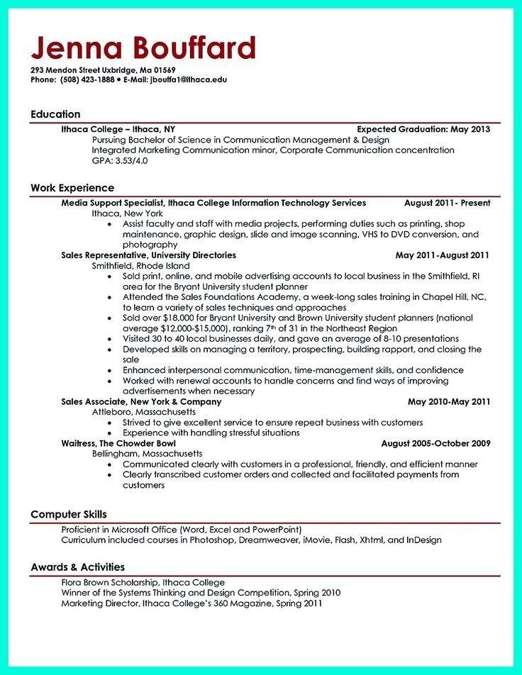 College Graduate Resume. Free Resume Templates For College ...