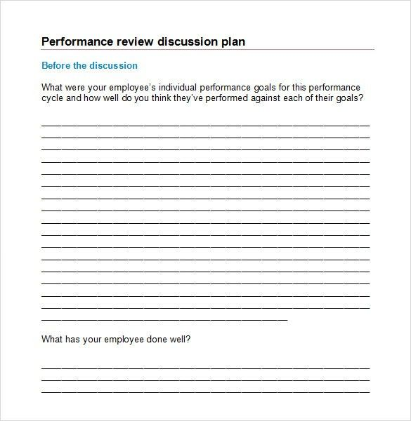 Sample Performance Review - 6+ Documents in PDF, Word