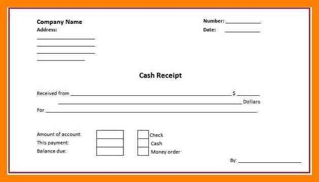 5+ cash received slip format | cashier resumes