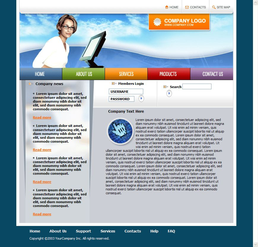 templates free download in html free download html website ...
