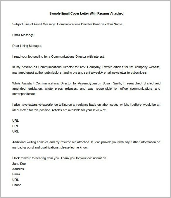 sample professional letter formats. email cover letter example 10 ...