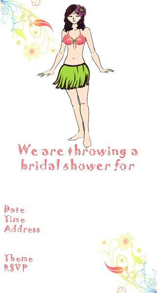 Bridal Shower Invitations: Free Hawaiian Bridal Shower Invitations ...