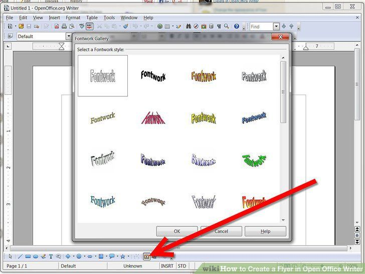 How to Create a Flyer in Open Office Writer: 8 Steps