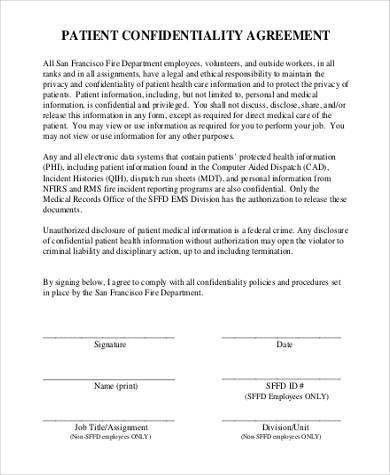 Confidentiality Agreement Template. Law Firm Employment ...