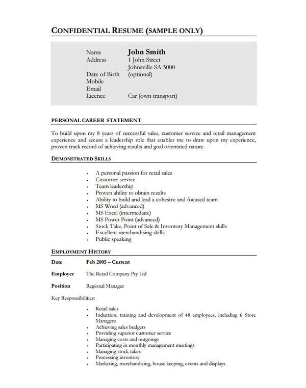 10+ Manager Resume Templates - Free Word, PDF, PSD