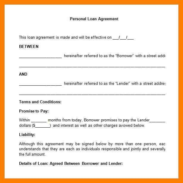 6+ simple personal loan agreement | simple cv formate
