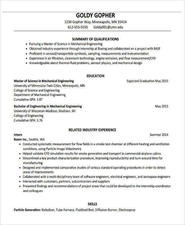 6+ Fresher Resume Format Template - 6+ Free Word, PDF Format ...