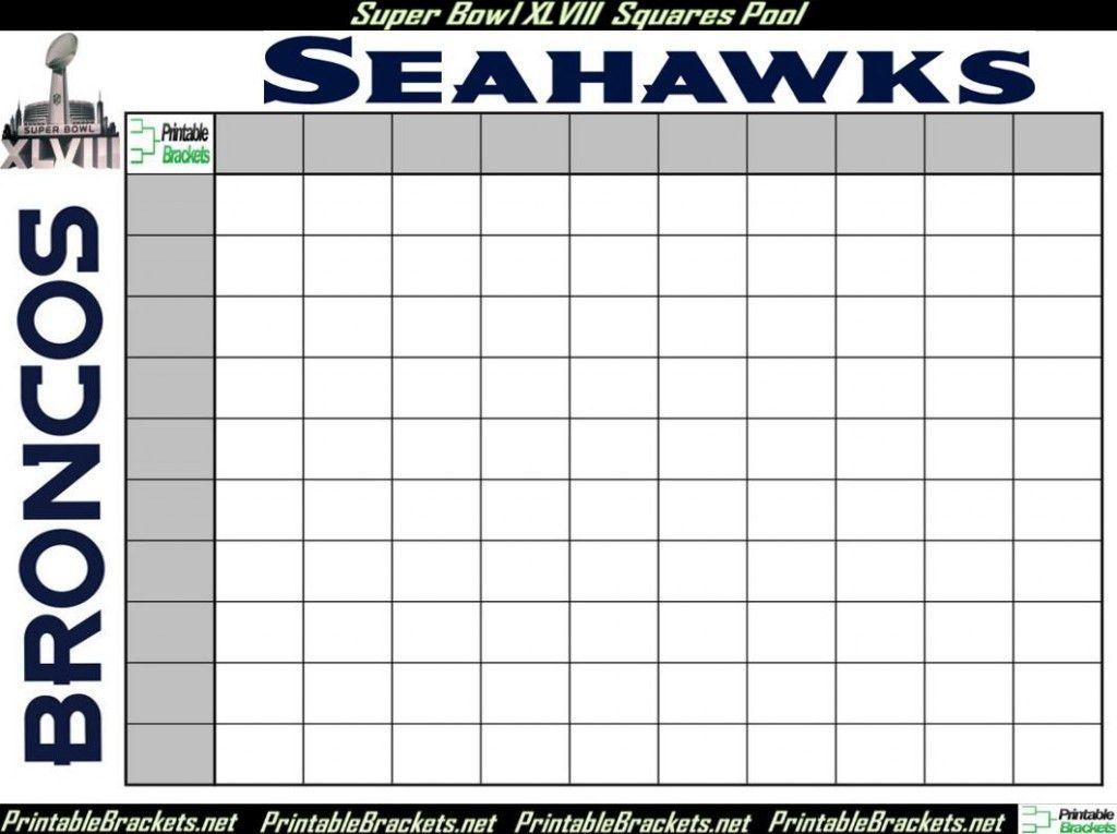Super Bowl Squares   Super Bowl Squares Template