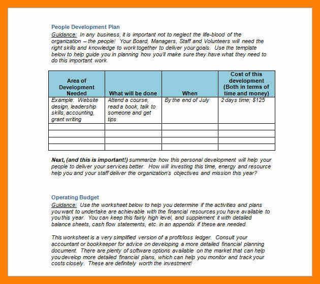 7+ strategic plan word template | attendance sheet