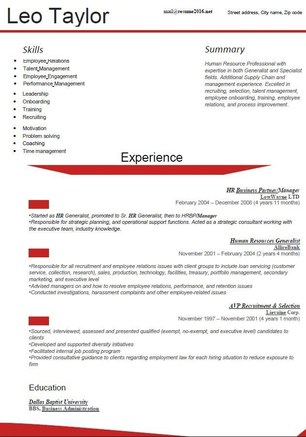Resume Format 2016 12 Free To Download Word Templates Current ...