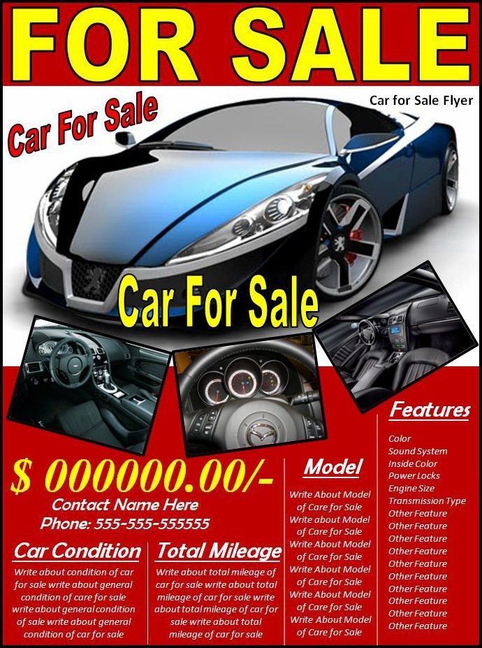 Car for Sale Flyer - Best Word Templates