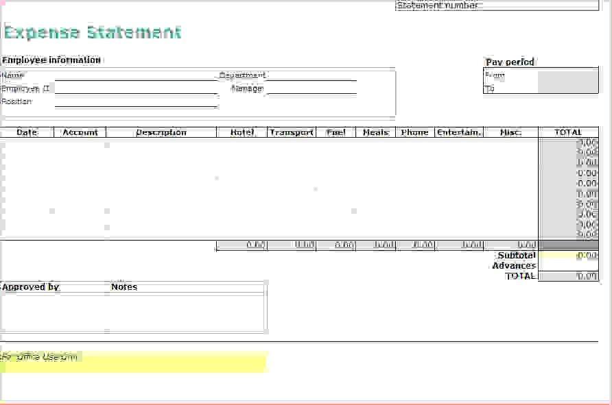 7+ travel expense report template | Procedure Template Sample