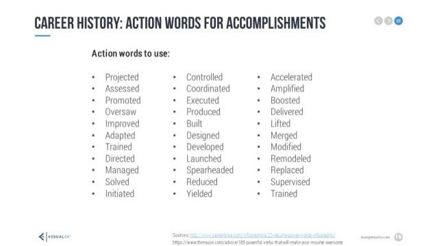 Resume Power Words 12 Action Words For Successful Sales Resumes ...