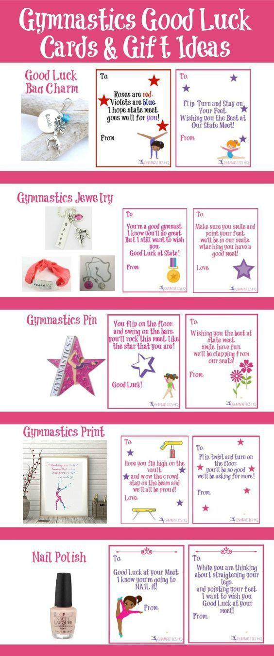 Gymnastics good luck gift ideas along with free printable good ...