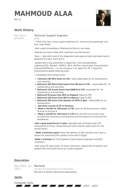 Technical Support Engineer Resume samples - VisualCV resume ...