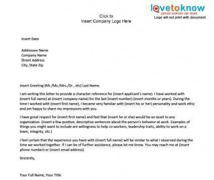 Sample Of Character Reference Letter For A Nurse - Compudocs.us