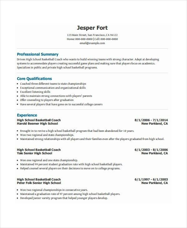 college resume sample for high school senior resume template for