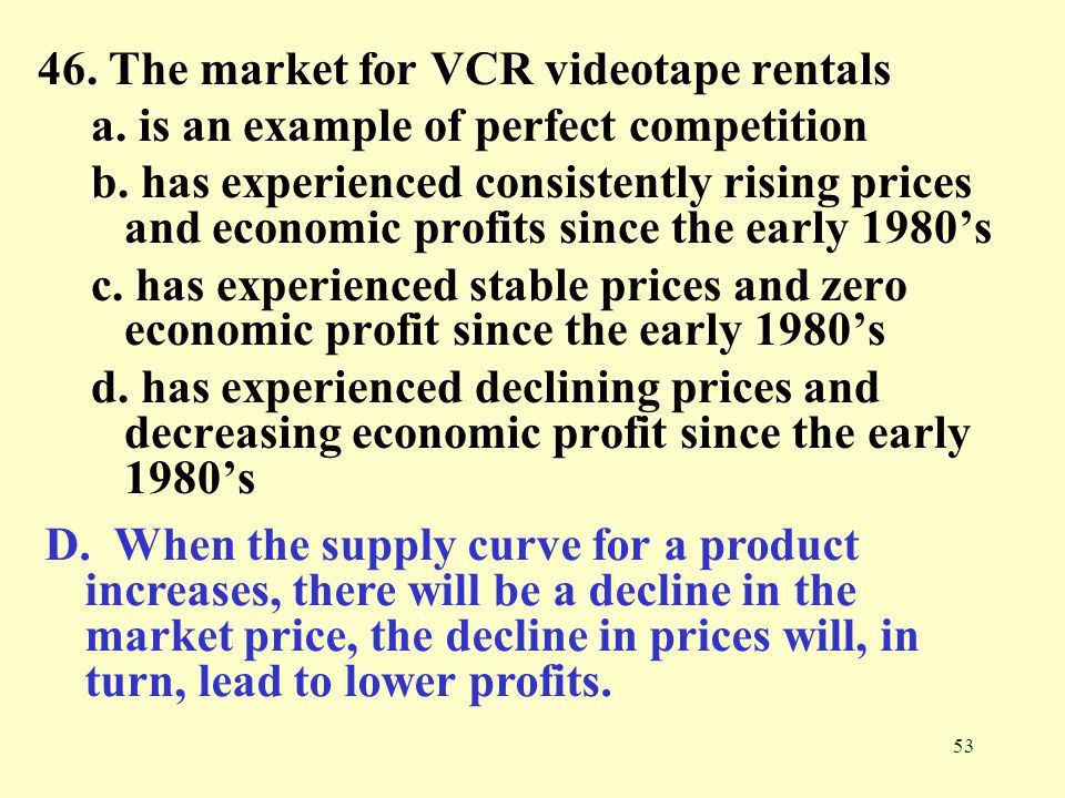 1. The two most extreme market structures in terms of performance ...