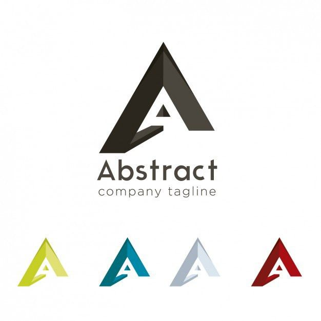 A abstract logo design Vector | Free Download