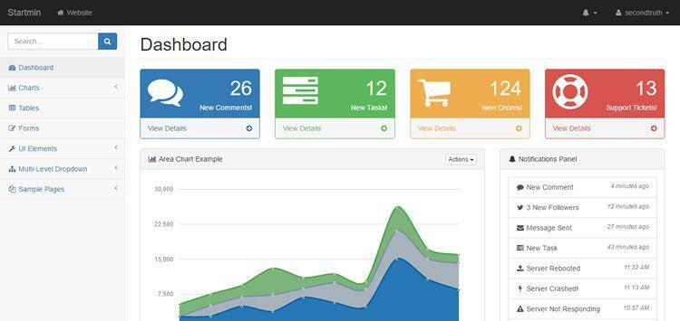 20 Free Bootstrap Admin & Dashboard Themes
