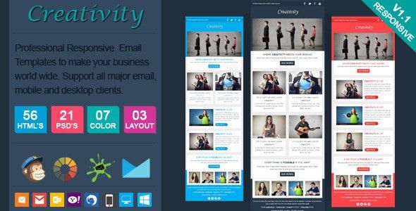 Creativity - Clean Responsive Email Template by actualpixel ...