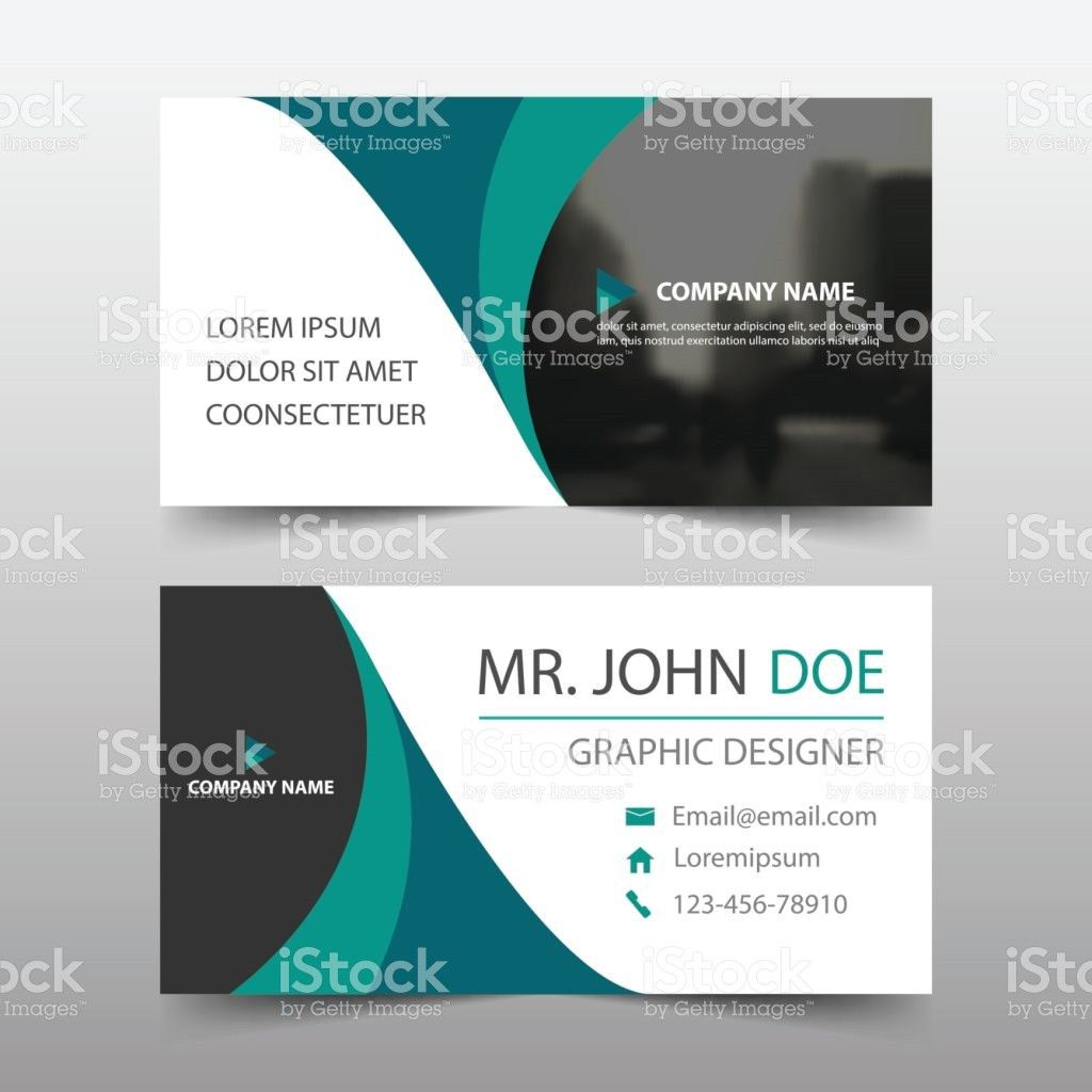 Green Curve Corporate Business Card Name Card Template Horizontal ...