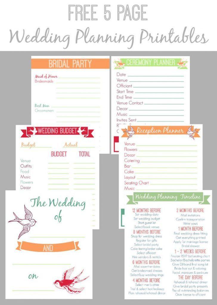 Wedding Planner Templates 13 Free
