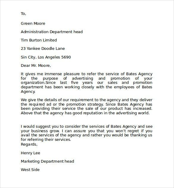 Personal Business Letters. Personal Reference Letter Of ...