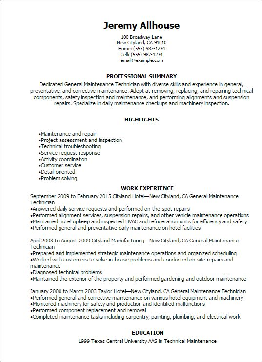 apartment maintenance supervisor resume professional apartment