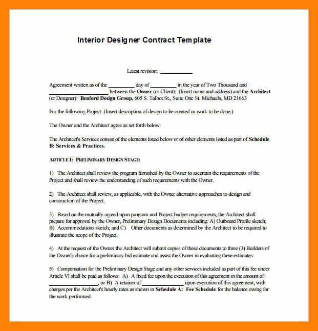 6+ design contract | informal letter